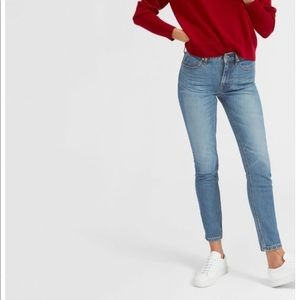 Everlane mid-rise skinny jean ankle blue